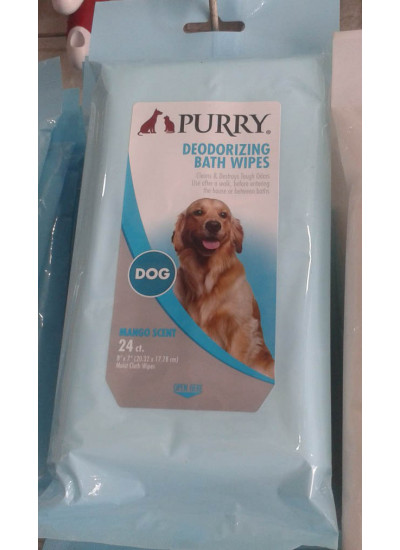 Purry Deodorizing Bath Wipes